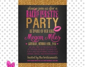 The Megan /// Bridal Shower Bachelorette Party Invitation /// Customizable and PRINTABLE
