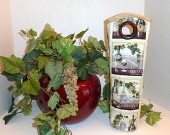 Insulated Wine Tote - Wine Label Print