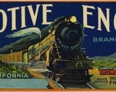 Locomotive Engineer Train Grape crate label