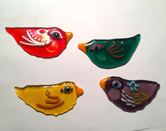 Whimsical Bird Fused Glass Ornament to enjoy all year long