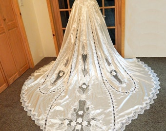 Marie Antoinette Couture-Non Traditional Bride-Custom Handmade OOAK 2 PC Mini Bridal Dress with Detachable Train