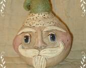 Santa Gourd, small, Green