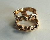 Vintage Ring Guard Enhancer Jacket Wrap 14 K Gold 8 Grams