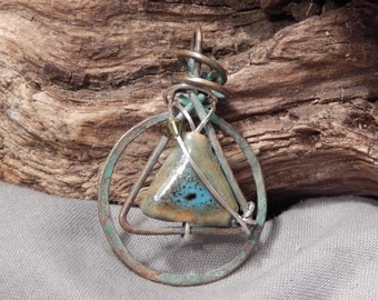 12-Step Recovery Silver & Copper Pendant CUSTOM made to order