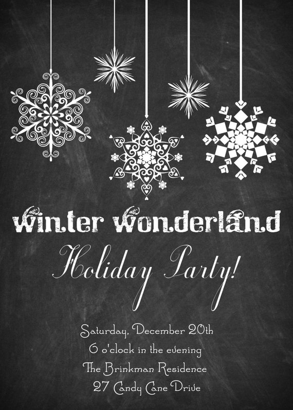 christmas dinner party invitation chalkboard christmas dinner, Party invitations