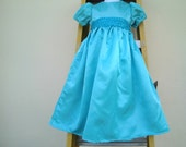 Nightgown/ Wendy Dress  Costume in blue sateen