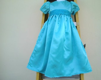 Nightgown/ Wendy Darlin Dress / Costume in blue sateen