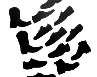 Mens Shoes Silhouettes Die Cuts Set of 13