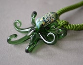 Deep Green Octopus Jewelry Necklace