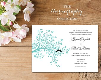 The Love Birds Invitation - The Thermography Collection