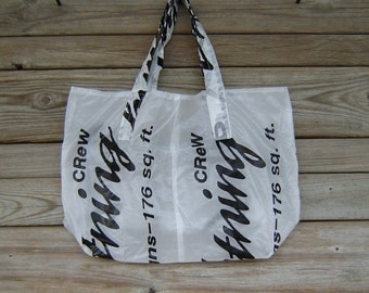 Eco Friendly Reusable Parachute Market Tote Bag 176 Lightning Logo
