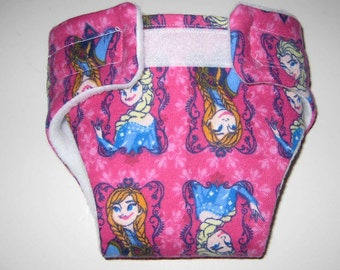 Baby Doll Diaper/Wipe-Elsa from Frozen-Fits Bitty Baby, Baby Alive, Cabbage Patch Dolls and More