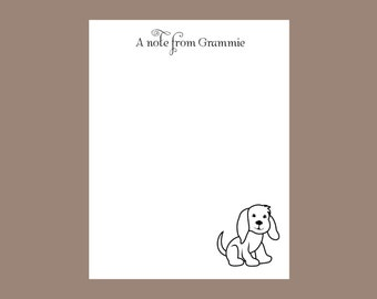 Dog notepad Personalized Notepad, Teacher gift, stocking stuffer