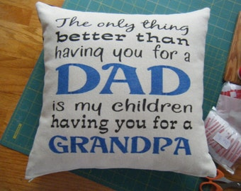 Pillow Cover - Dad - Grandpa