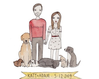 Custom Portrait - Custom Pet Portrait - Original Portrait in Watercolours
