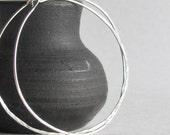 Sterling Silver Hoop Earrings - Large Hoop Earrings - Hammered Hoop Earrings