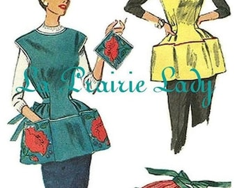 Repro Vintage Gobbler and Half Apron 50s on PDF No 15 Available Size L and XL