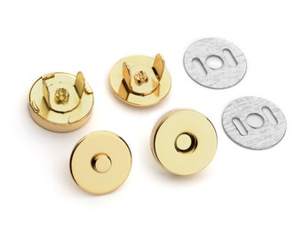 30 Sets Magnetic Purse Snaps - Closures 14mm Gold - Free Shipping (MAGNET SNAP MAG-110)