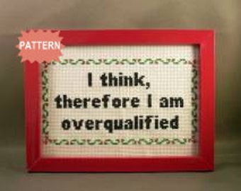 PDF/JPEG I think, therefore I am overqualified (Pattern)