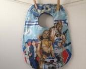 Vintage Star Wars Baby Bib - Star Wars Baby Gift