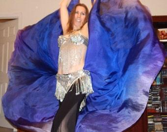 Sahariah's Silk Belly Dance Veils Original Killer Moths 2 8MM Half Circle Veils Signature Butterfly Moths SALE