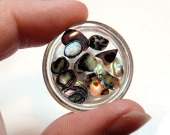 Rainbow Abalone Cabochon Set Acrylic Puffy Round Molecules Chunks Jewelry Making Phone Case Decoden Mixed Media Wire Wrap Beading A5