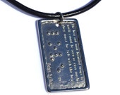 Helen Keller LOVE Pendant in Braille Jewelry in Braille