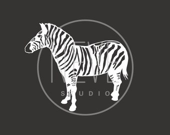 Zebra nursery decor, modern zoo art 13 x 19 - different colors and sizes available