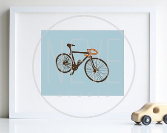Bicycle Art, transportation nursery art print by nevedobson - different colors and sizes available