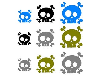Skull decal set