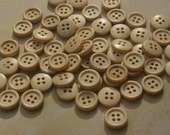 """Natural Wood Buttons - Wooden Sewing Button - 15mm - 5/8"""" - 50 Buttons"""