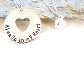 Always in my Heart - Mother and Daughter - Necklace Set - Pewter and Stainless Steel