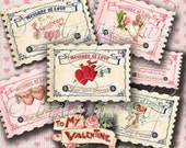 MESSAGE OF LOVE Collage Digital Images -printable download file-