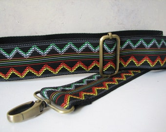 Ziggy - Custom Bag Strap,   2 inches wide with Black Backing