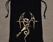 Dungeons and Dragons tribal dragon game dice bag **SALE
