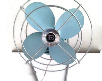 Vintage Baby blue Electrohome Fan