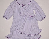 Custom Size and Color ~ You Choose ~ Pink OR Purple Little Girl's Flannel Nightgown
