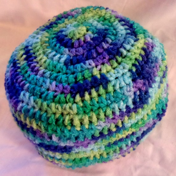Free Crochet Pattern Multi Colored Hat : Crochet Multi Color Hat Warm Winter