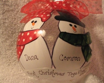 First Christmas Together -  Personalized and Hand Painted