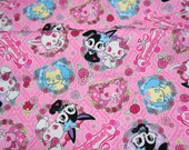 Kawaii Sanrio Character Jewel Pets Print 50 cm by  106  cm or 19.6 by 42  inches  Half Meter