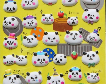 Animal Stickers Puffy Animal Panda ST2