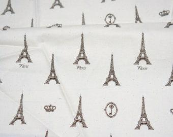 Vintage style Eiffel Tower print half meter 50 cm by 106 cm or 19.6 by 42 inches  (n431)