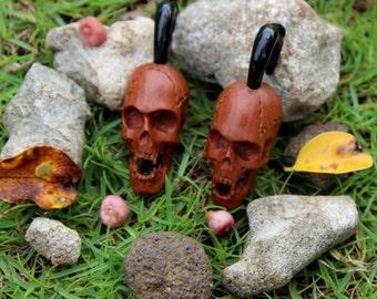 Fake Gauge Earrings, Organic ,Wood ,Tribal ,Expanders,plugs.faux gauge.fake piercings,