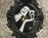 Gargoyle setting with Vampira image necklace(free shipping code)