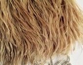 PASTEL  OSTRICH Fringe  , Gold, Straw    / PS  - 14