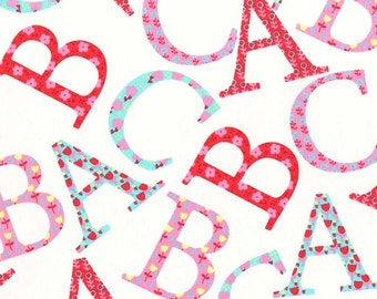 Clearance FABRIC ABCs for ME Girly  by Michael Miller 1/2 Yard