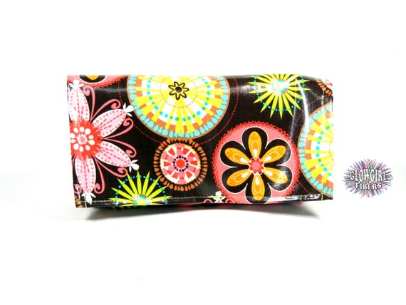 Waterproof Coupon or Purse Organizer Carnival Bloom