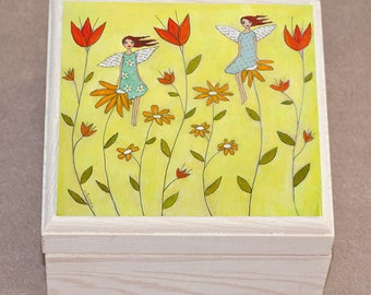 Flower Fairies Jewelry Box, Trinket Box, Gift Box