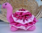 Yo Yo Turtle (4) fabric quilt nursery decor reptile garden yoyo child friendly stuffed toy tortoise