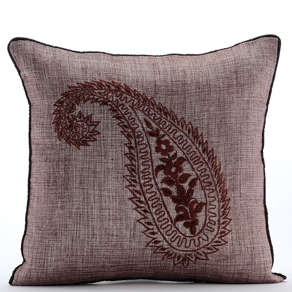 Designer Brown Throw Pillows Cover For Couch